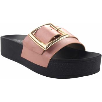 Zapatos Mujer Zuecos (Mules) Kelara Playa señora  k12029 salmon Rosa