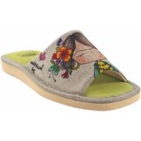 Zapatos Mujer Pantuflas Vivant Ir por casa señora  pkc202592 beig Blanco