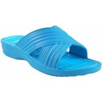 Zapatos Mujer Zuecos (Mules) Kelara Playa señora  k02017 celeste Azul