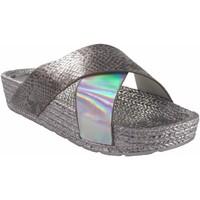 Zapatos Mujer Alpargatas Kelara Playa señora  k12033 plata Plata