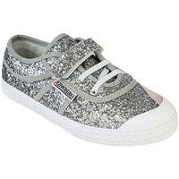 Zapatos Deportivas Moda Kawasaki Glitter kids shoe w elastic - silver Plata