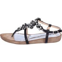Zapatos Mujer Sandalias Francescomilano BH42 Negro