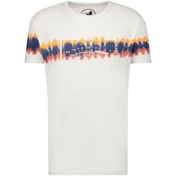 textil Hombre Camisetas manga corta A Fish Named Fred batik white AZUL
