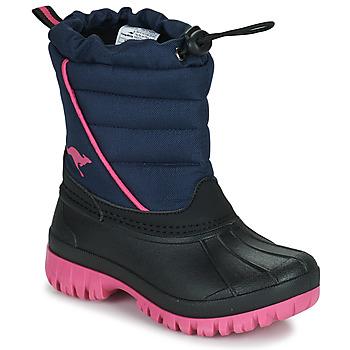 Zapatos Niña Botas de nieve Kangaroos K-BEN Azul / Rosa