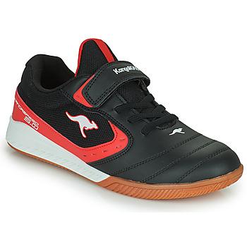 Zapatos Niños Zapatillas bajas Kangaroos K5-COURT EV Negro / Rojo