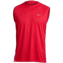 textil Hombre Camisetas sin mangas Saucony SAM800216 Rojos