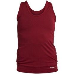 textil Mujer Camisetas sin mangas Saucony SAW800099 Rojo burdeos