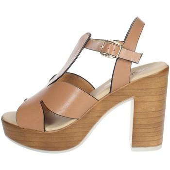 Zapatos Mujer Sandalias Repo 56247-E1 Marrón cuero