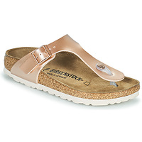 Zapatos Niña Chanclas Birkenstock GIZEH Rosa / Oro