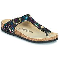 Zapatos Niña Chanclas Birkenstock GIZEH Negro / Multicolor