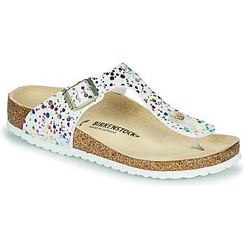 Zapatos Niña Chanclas Birkenstock GIZEH Blanco / Multicolor