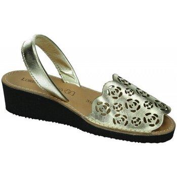 Zapatos Mujer Sandalias Lorena Massó Menorquina laser ORO