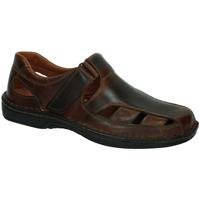 Zapatos Hombre Sandalias 48 Horas Sandalias de piel COÑAC