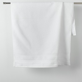 Casa Toalla y manopla de toalla Douceur d intérieur EXCELLENCE Blanco