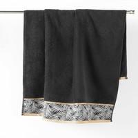 Casa Toalla y manopla de toalla Douceur d intérieur ORBELLA Negro