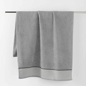 Casa Toalla y manopla de toalla Douceur d intérieur BELINA Gris