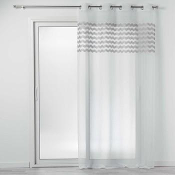 Casa Cortinas transparentes Douceur d intérieur SANDINA Blanco / Gris