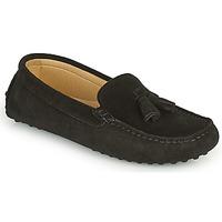 Zapatos Mujer Mocasín Casual Attitude GATO Negro