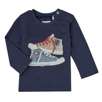 textil Niño Camisetas manga larga Ikks AURORE Marino