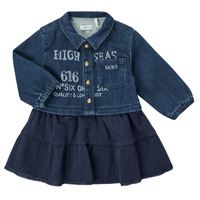 textil Niña Vestidos cortos Ikks CHATAIN Marino