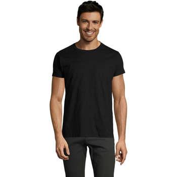textil Hombre Camisetas manga corta Sols Camiseta IMPERIAL FIT color Negro Negro