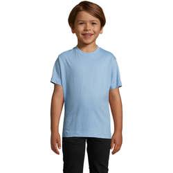 textil Niños Camisetas manga corta Sols Camista infantil color Azul cielo Azul