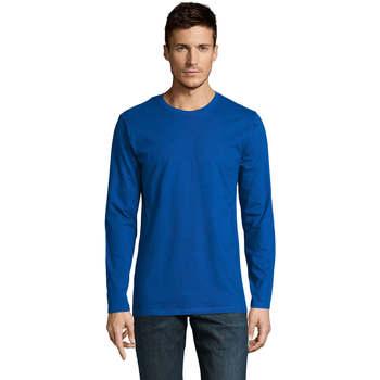 textil Hombre Camisetas manga larga Sols Camiseta manga larga Azul