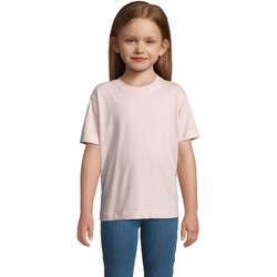 textil Niños Camisetas manga corta Sols Camista infantil color Rosa médio Rosa