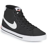 Zapatos Mujer Zapatillas bajas Nike W NIKE COURT LEGACY CNVS MID Negro / Blanco