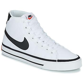 Zapatos Hombre Zapatillas altas Nike NIKE COURT LEGACY CNVS MID Blanco / Negro