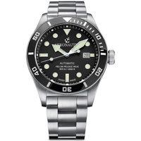 Relojes & Joyas Hombre Relojes analógicos Aeronautec ANT-44075-01, Automatic, 44mm, 50ATM Plata