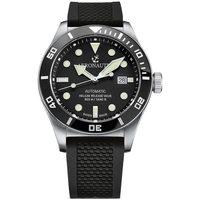 Relojes & Joyas Hombre Relojes analógicos Aeronautec ANT-44075-06, Automatic, 44mm, 50ATM Plata