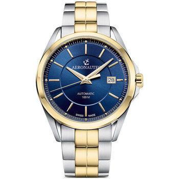 Relojes & Joyas Hombre Relojes analógicos Aeronautec ANT-44085.07, Automatic, 42mm, 10ATM Oro