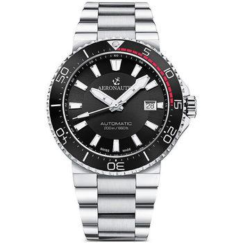 Relojes & Joyas Hombre Relojes analógicos Aeronautec ANT-44086-01, Automatic, 43mm, 20ATM Plata