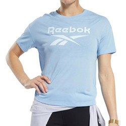 textil Mujer Camisetas manga corta Reebok Sport  Azul