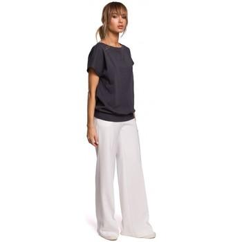 textil Mujer Tops / Blusas Moe M498 Top de manga corta con espalda envolvente - acero