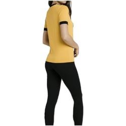textil Mujer Camisetas manga corta Siksilk SSW-1375 amarillo