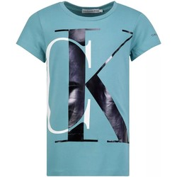 textil Niña Camisetas manga corta Calvin Klein Jeans IG0IG00662CTM Azul