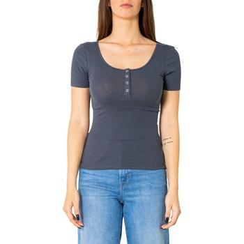 textil Mujer Camisetas manga corta Pieces 17101439 Blu
