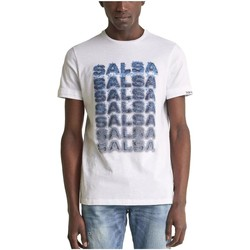 textil Hombre Camisetas manga corta Salsa 124706 0001 Blanco