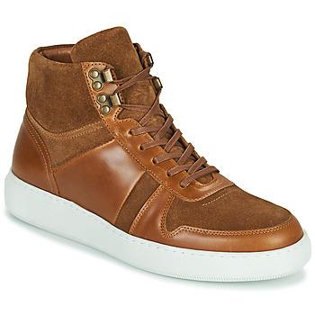 Zapatos Hombre Zapatillas altas Pellet ODIN Marrón