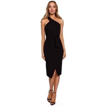 textil Mujer Vestidos largos Moe M572 Vestido de un solo tirante - negro