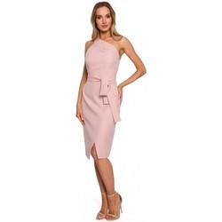 textil Mujer Vestidos largos Moe M572 Vestido de un solo tirante - polvo