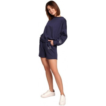 textil Mujer Shorts / Bermudas Be B186 Pantalones cortos con bordado - azul