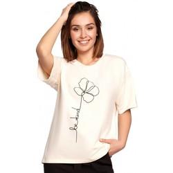 textil Mujer Tops / Blusas Be B187 Camiseta con estampado de flores - crema