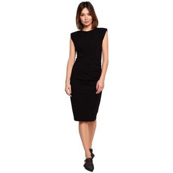 textil Mujer Vestidos cortos Be B193 Vestido entallado con costados fruncidos - negro