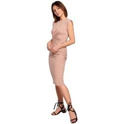 textil Mujer Vestidos cortos Be B193 Vestido entallado con costados fruncidos - mocca
