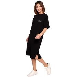 textil Mujer Vestidos cortos Be B194 Vestido camiseta relaxed fit - negro