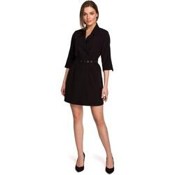 textil Mujer Vestidos cortos Style S254 Vestido de chaqueta con cinturón de hebilla - verde