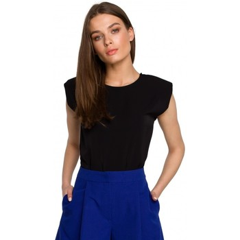 textil Mujer Tops / Blusas Style S260 Blusa sin mangas con hombros acolchados - azul